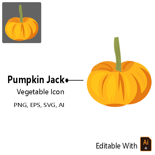 Vegetable Icon - Jack Be Little